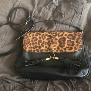 Sole Society leopard leather bag